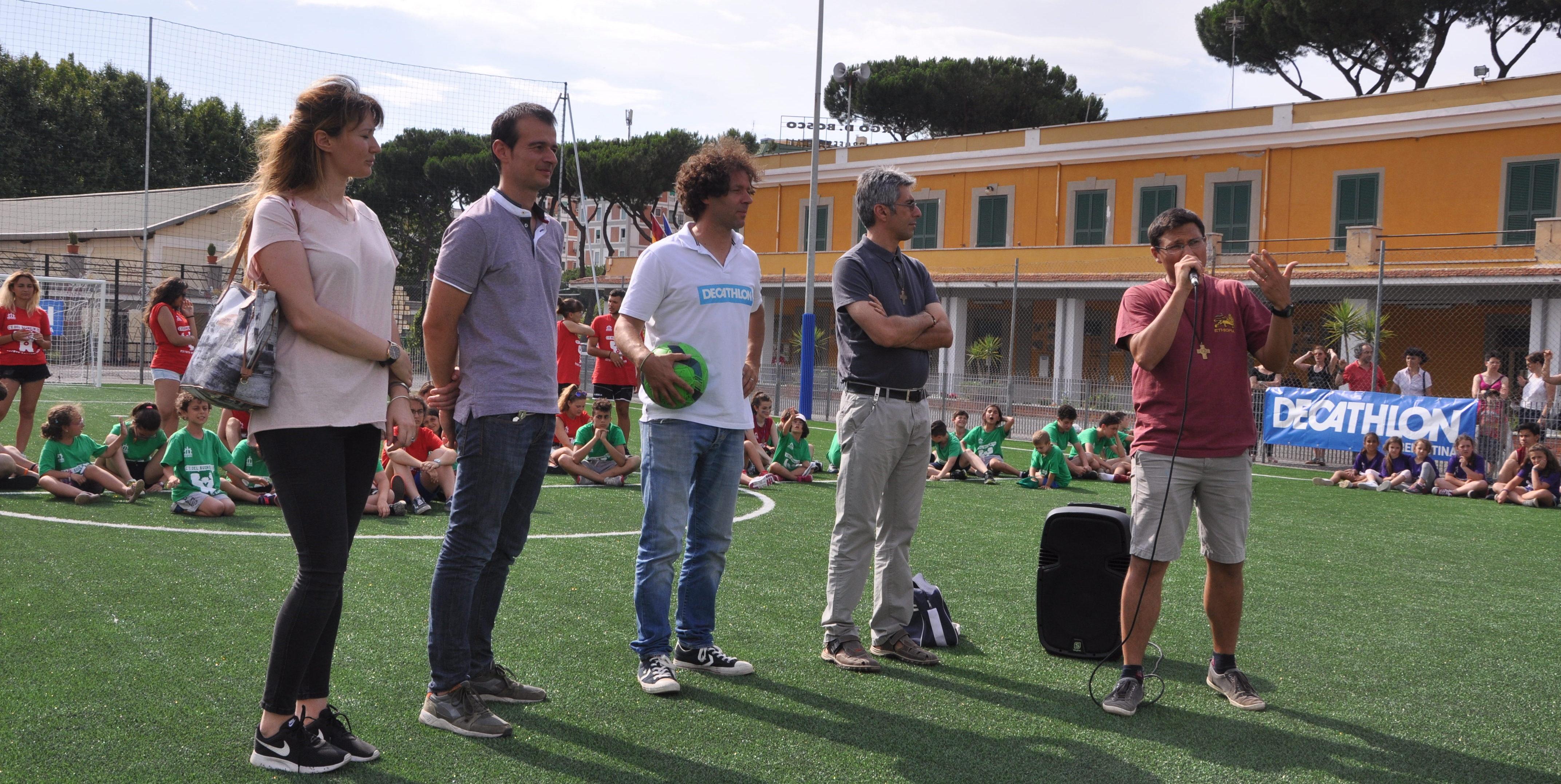 Inaugurazione campo di calcetto al Borgo don Bosco